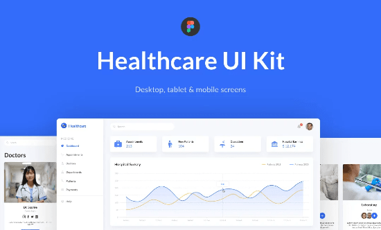 health dashboard UI
