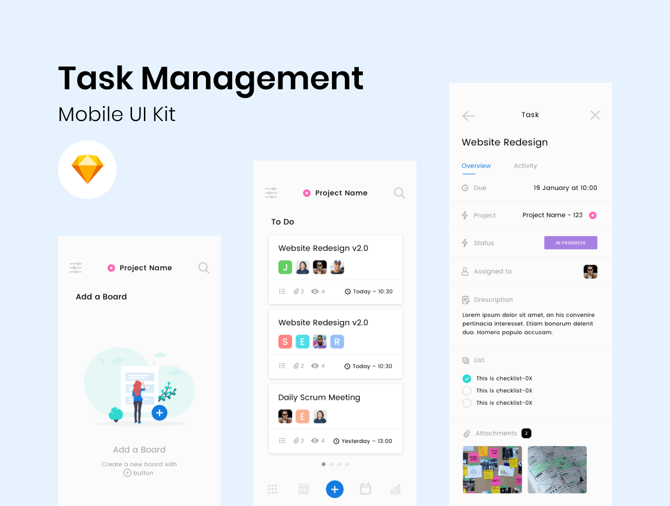 task management UI kit