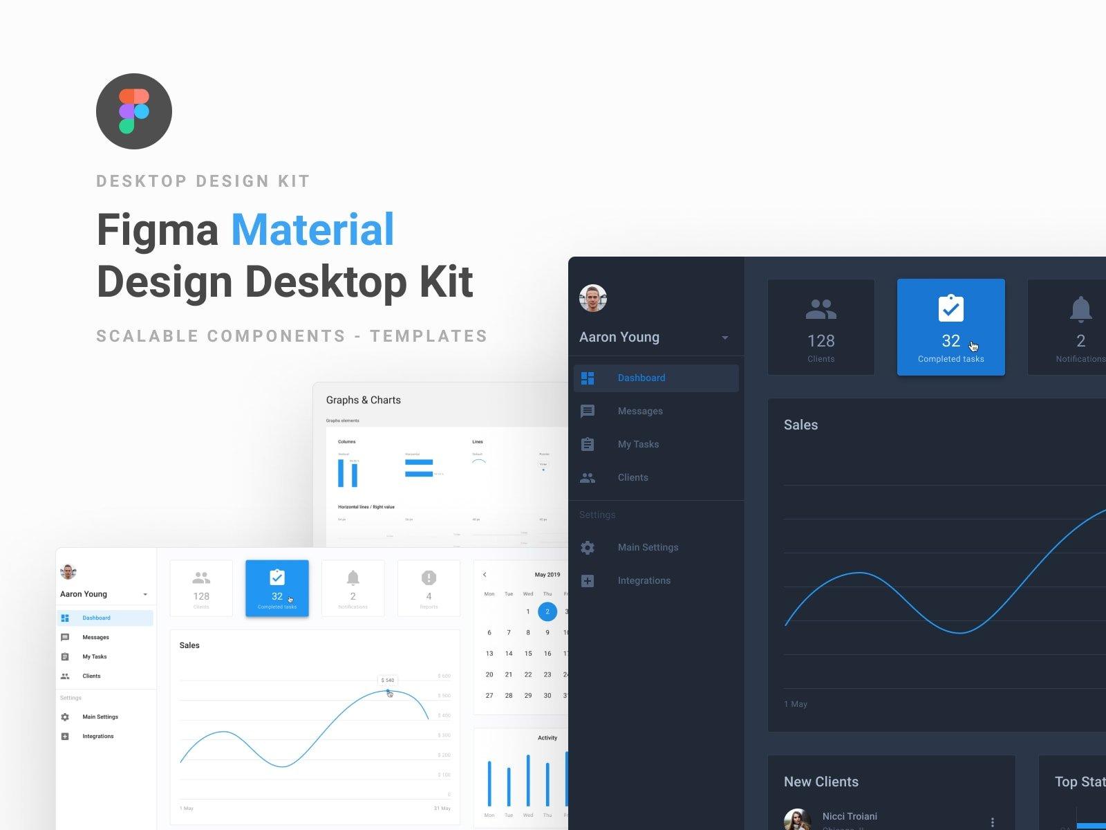 Figma material design desktop UI