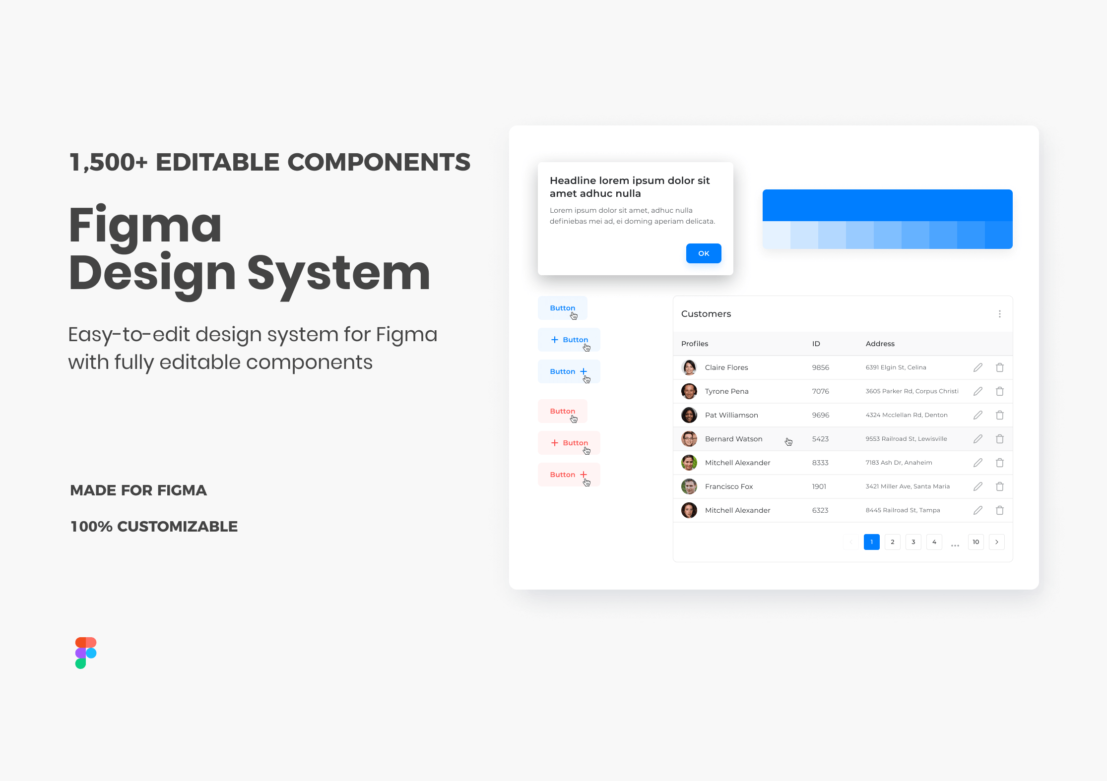 figma design system & component library