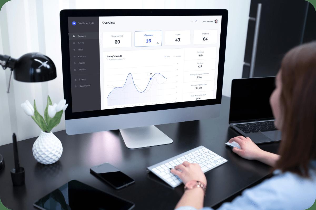 Admin dashboard UI kit & templates for Figma