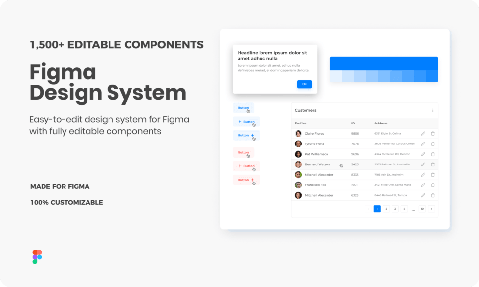 Massive Figma Design System & Component Library