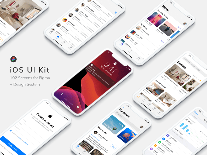 figma iOS UI kit template