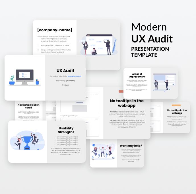 UX presentation template