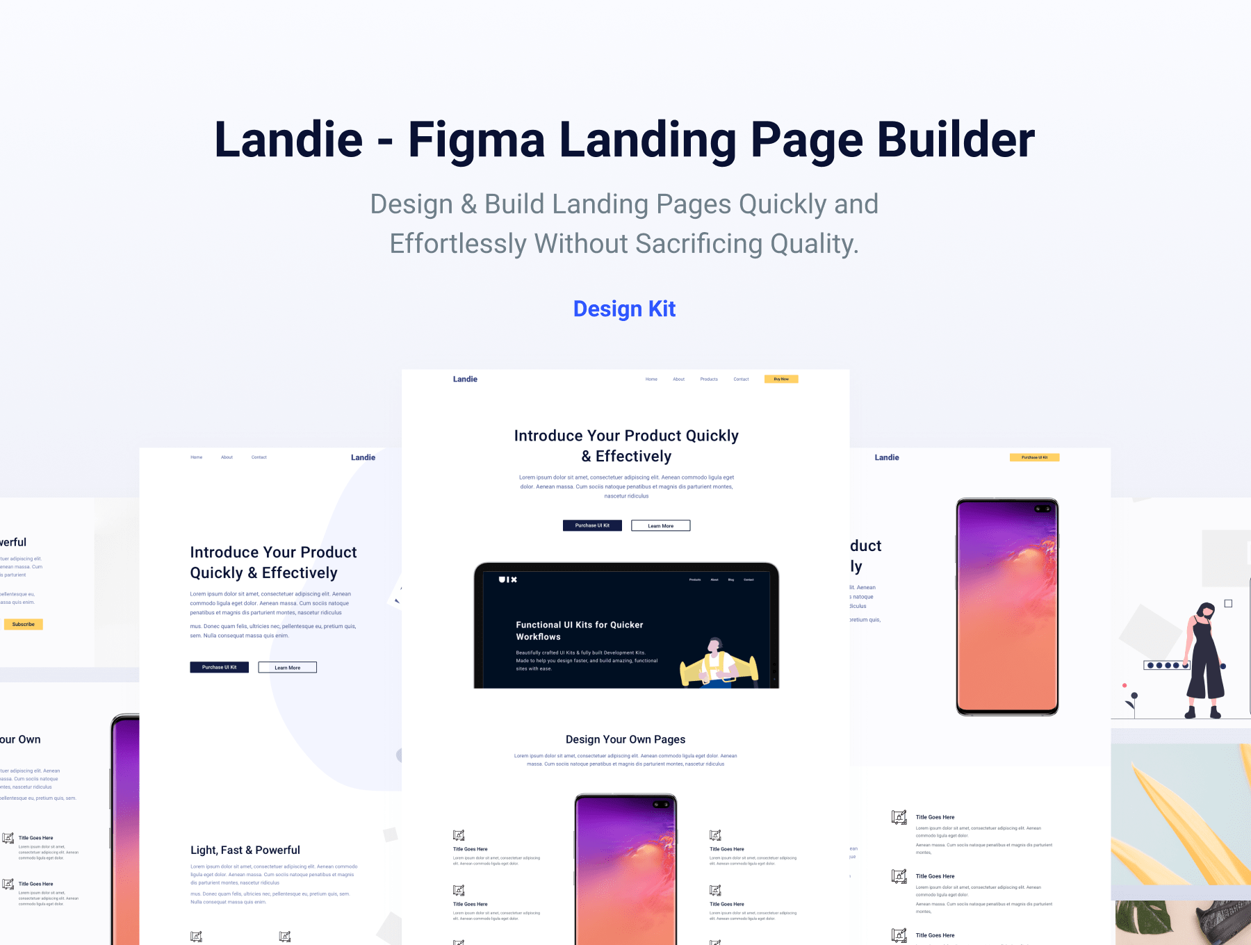figma landing page template