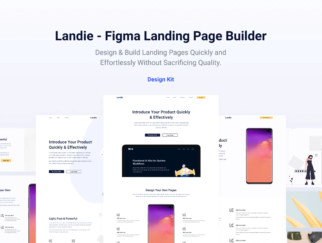figma landing pages