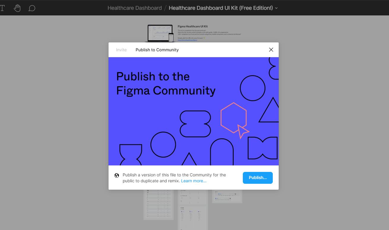 figma files publish share