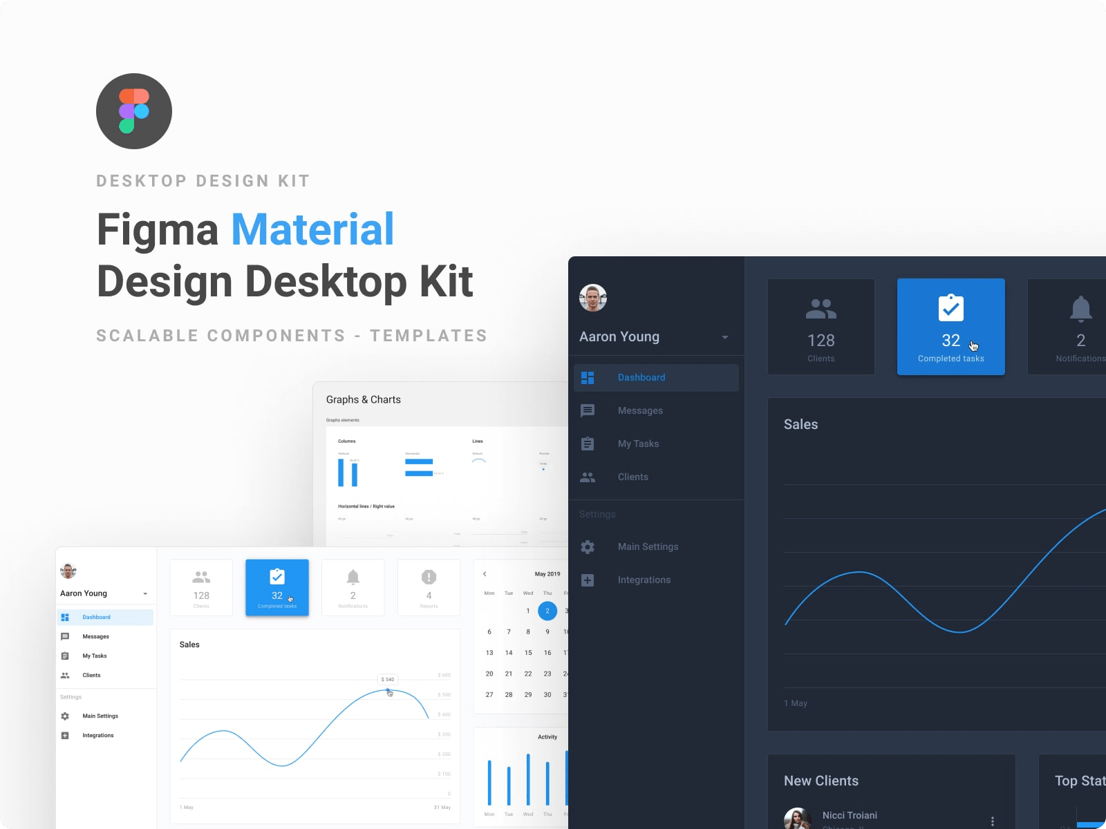 material design system component library