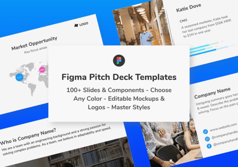 Figma pitch deck templates presentation slides